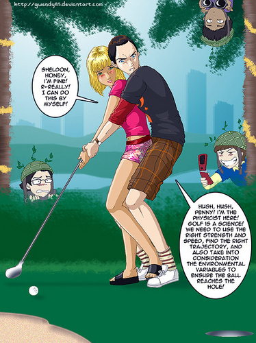 빅뱅이론 바탕화면 entitled Golf