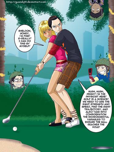 生活大爆炸 壁纸 entitled Golf