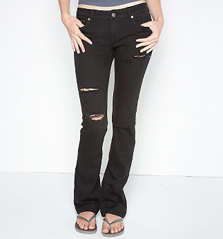 Hurley 70's Skinny Bootcut Destroyed Jeans