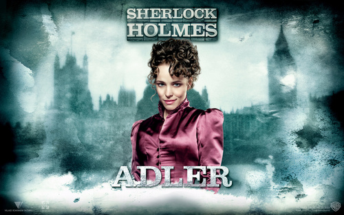 Sherlock Holmes (2009 Film) wallpaper possibly containing a sign and animê called Irene Adler