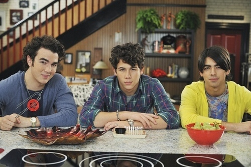 The Jonas Brothers wallpaper probably containing a dinner, a holiday dinner, and a brasserie called JONAS