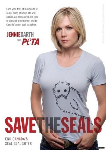 Jennie Garth on PETA poster!