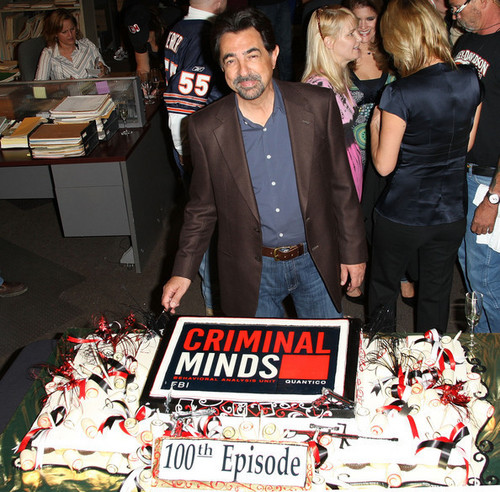 Joe Mantegna celebrating 100th Episode of Criminal Minds