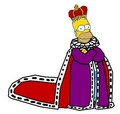 King Homer - the-simpsons fan art