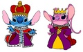 King Stitch and queen ángel