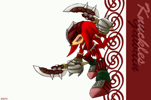 Knuckles as Gawain in Sonic and the Black Knight