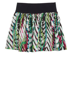 Lacey Feather Print skirt, upindo