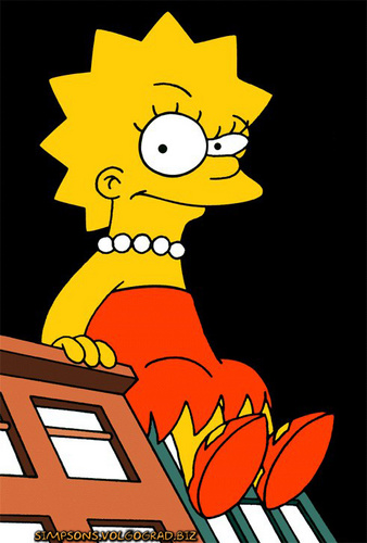 Lisa Simpson wallpaper probably containing animê titled Lisa<3