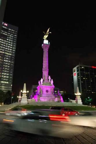Mexico in pink