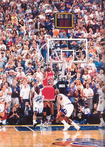 Michael Jordan's Last Shot As A taureau, bull