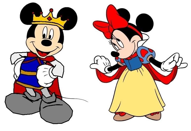 Mickey and minnie prince mickey princess minnie snow white