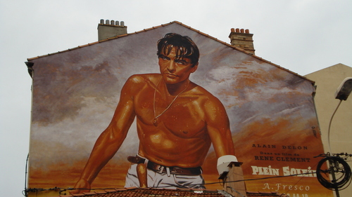 Mural of Alain Delon