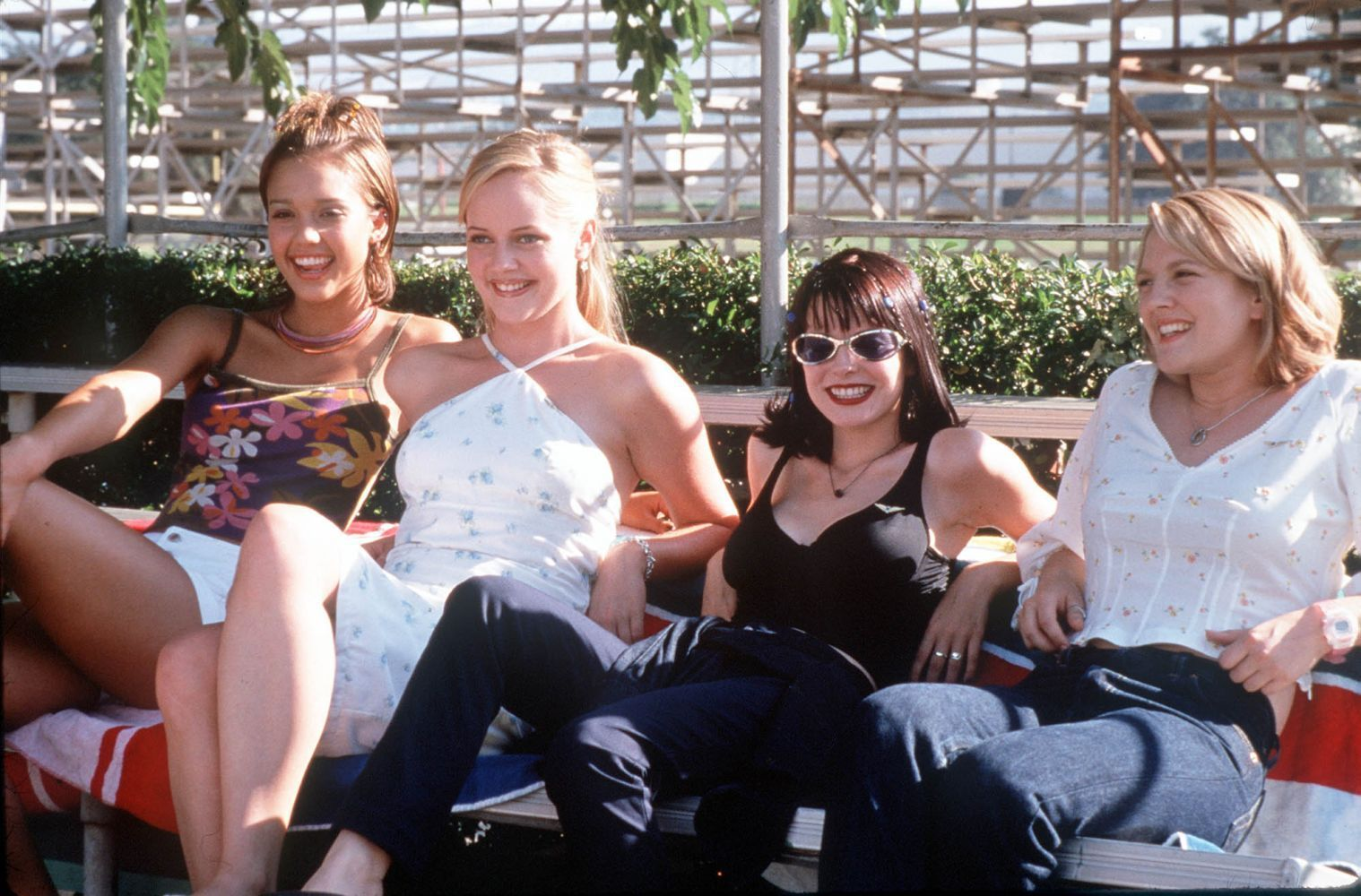 never been kissed 1999-10-26  josie geller (drew barrymore), a baby-faced junior copywriter at the chicago sun-times, must pose as a student at her former high school to research contemporary teenage culture.