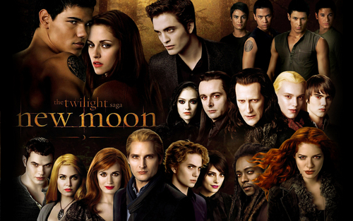 Twilight Series wallpaper containing a portrait titled New Moon(1280x800) *for nancy101*
