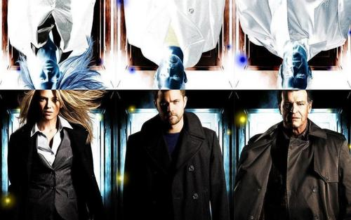 Fringe wallpaper titled Olivia, Peter & Walter