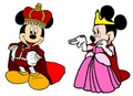 Prince Mickey and Princess Minnie