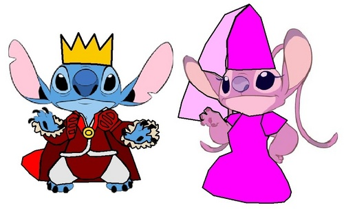 Prince Stitch and Princess angel