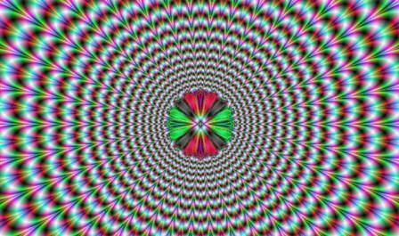 Pulsing Vortex Illusion