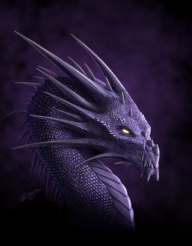 Dragons wallpaper entitled Purple dragon