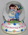 Raggedy Ann and Andy Snowglobe