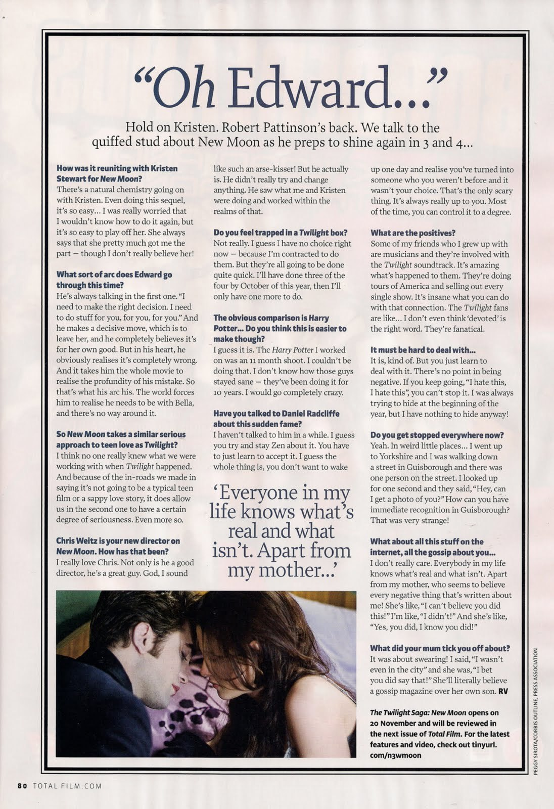 Robert Pattinson and New Moon in Total Film Magazine – UK – December 2009