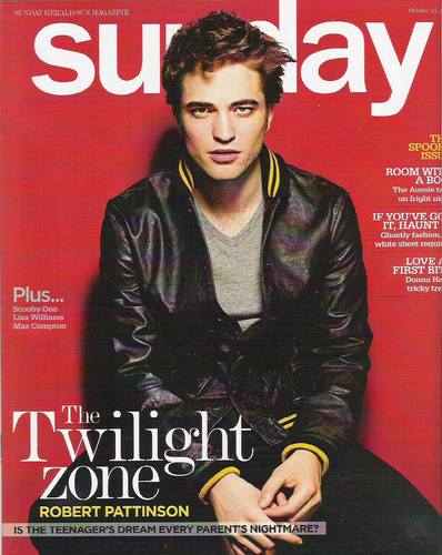 "Robert Pattinson in ""Sunday Herald Magazine"""
