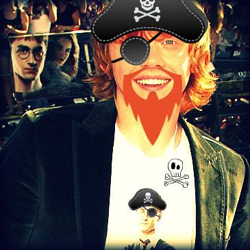 Rupert Grint is a Pirate