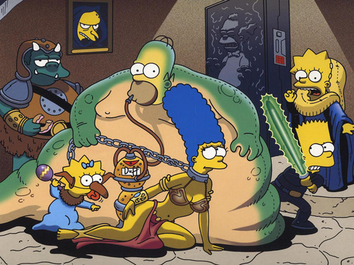 estrela WARS Meet the SIMPSONS!