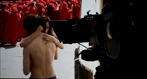 Screencaps from behind the scenes at Montepulciano