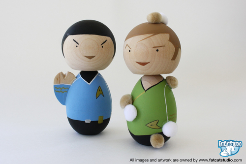 bintang Trek Spock and Captain Kirk Lil Fatty Doll