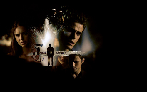 The Vampire Diaries wallpaper containing a fountain called Stefan & Elena
