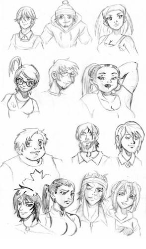 TD pencils sketches