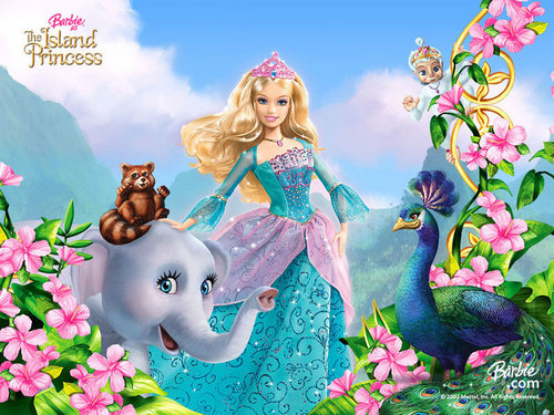 Barbie wallpaper titled The island princess