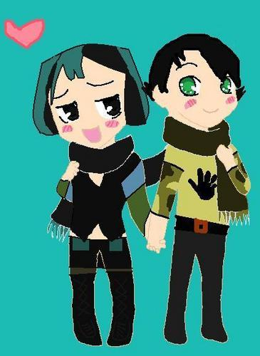 Trent and Gwen share a scarf