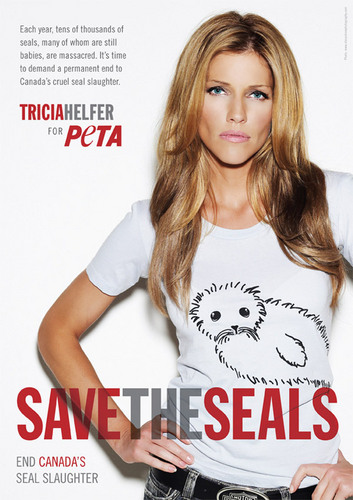 Tricia Helfer's 'Save the Seal' Ad