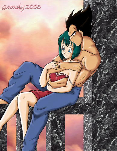 ドラゴンボールZ 壁紙 possibly with アニメ entitled Vegeta x Bulma