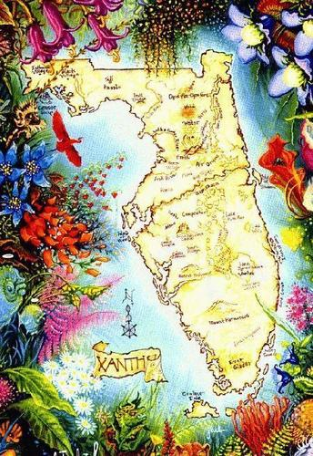 The world of Xanth! wallpaper entitled Xanth Map