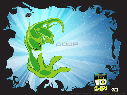 Ben 10: Alien Force wallpaper probably containing a sign titled goop