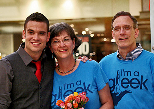 mark with his parents