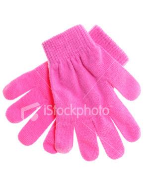 berwarna merah muda, merah muda gloves