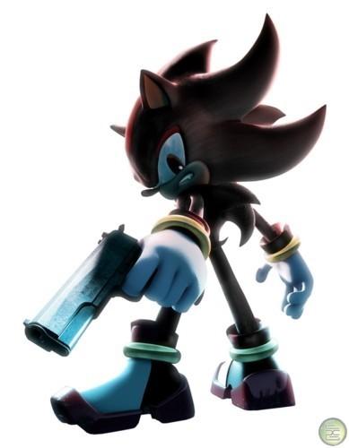 shadow with a gun