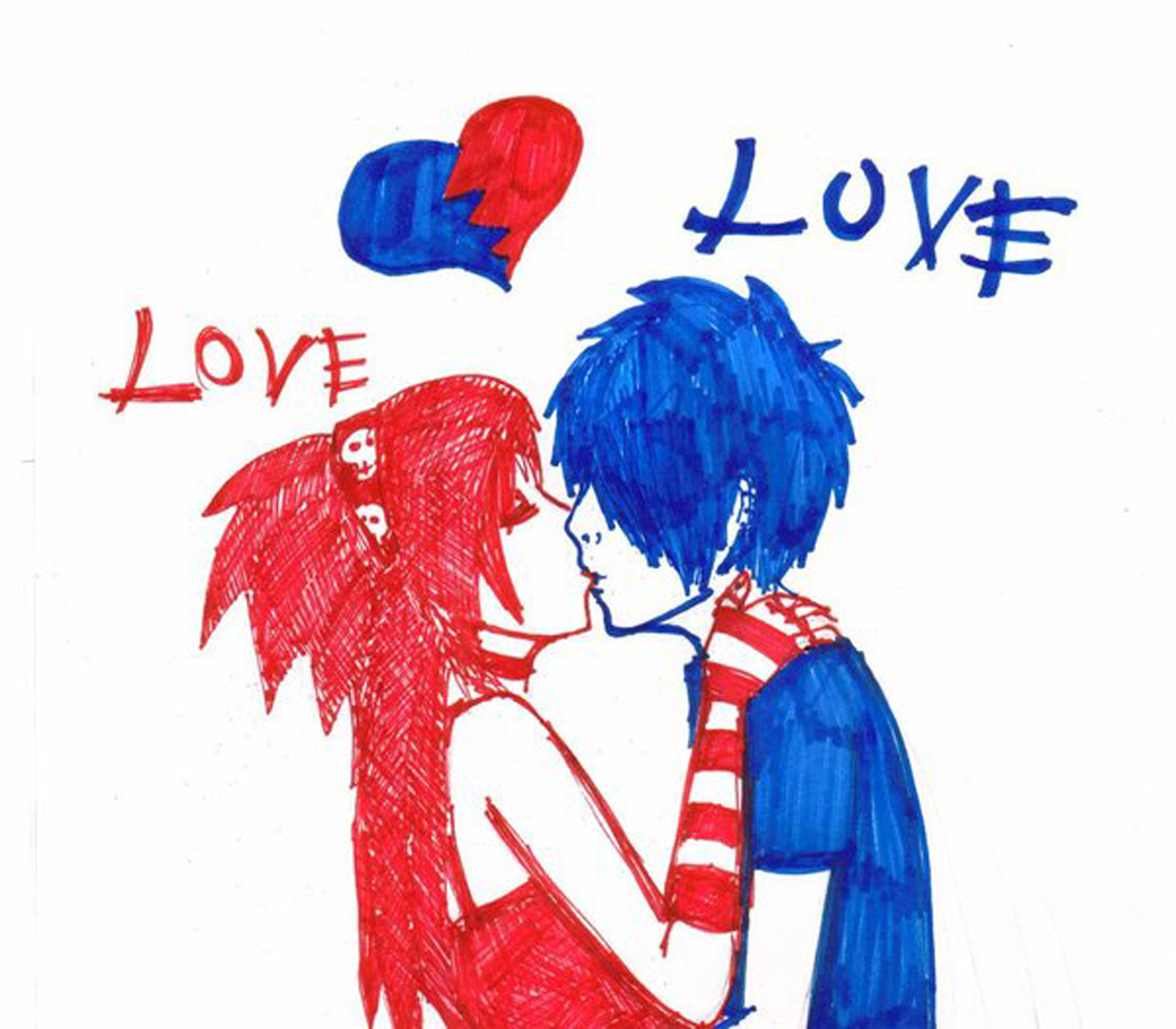 Love Wallpapers Emo : [Emo Love] - Emo Photo (8825376) - Fanpop