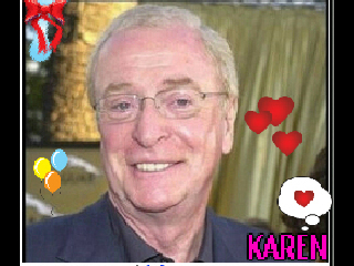 KEEP SMILING wallpaper titled *Karen Rock With Michael Caine Smile*