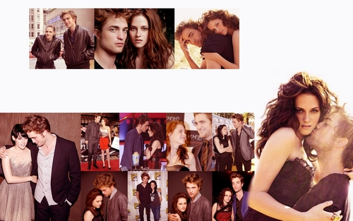 Edward e Bella wallpaper probably containing a portrait entitled ♥