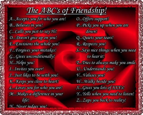 ABC's of Friendship