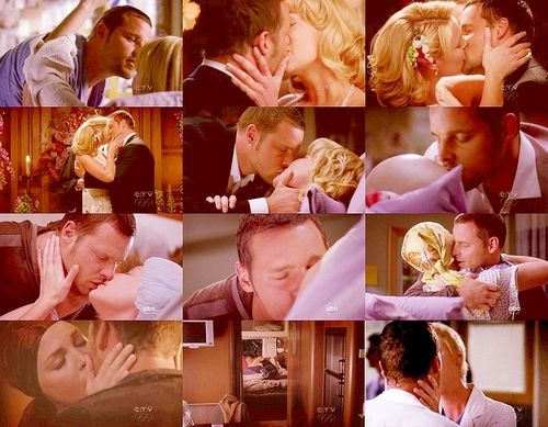 Alex and Izzie wallpaper titled AI kisses <33
