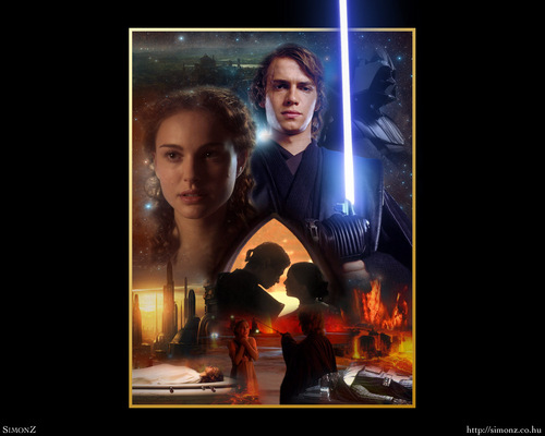 Anakin and Padme wallpaper possibly with anime called Anakin & Padmé wallpaper