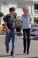 AnnaLynne and Matt on the set of 90210!!