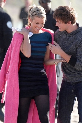 AnnaLynne and Matt on the set of 90210!!