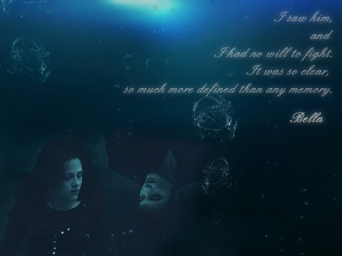 Bella and Edward Underwater